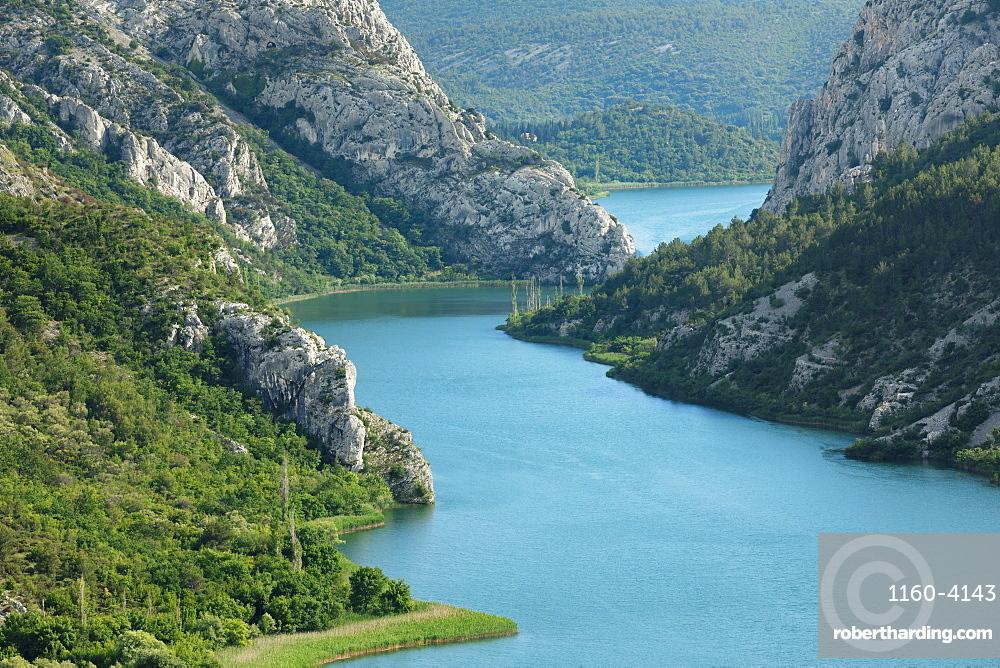 Medu Gredama Valley, Krka River, Krka National Park, Dalmatia, Croatia, Europe