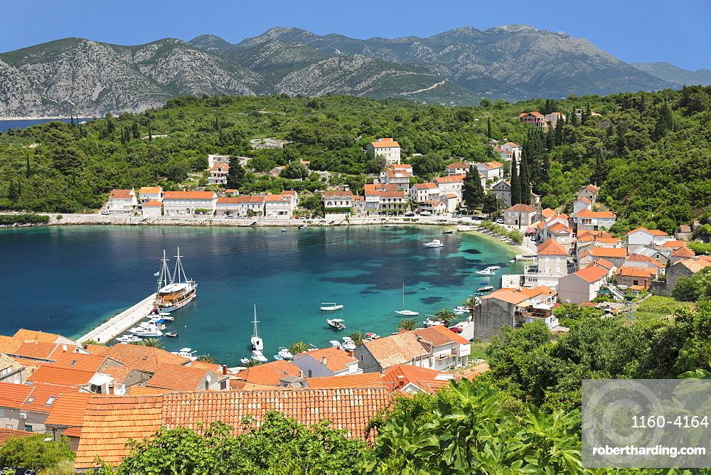 View over Rasisce, Island of Korcula, Adriatic Sea, Dalmatia, Croatia, Europe