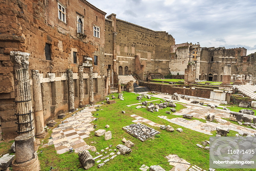 Trajan's Markets, Roman ruins, Forum area, Historic Centre (Centro Storico), Rome, UNESCO World Heritage Site, Lazio, Italy, Europe
