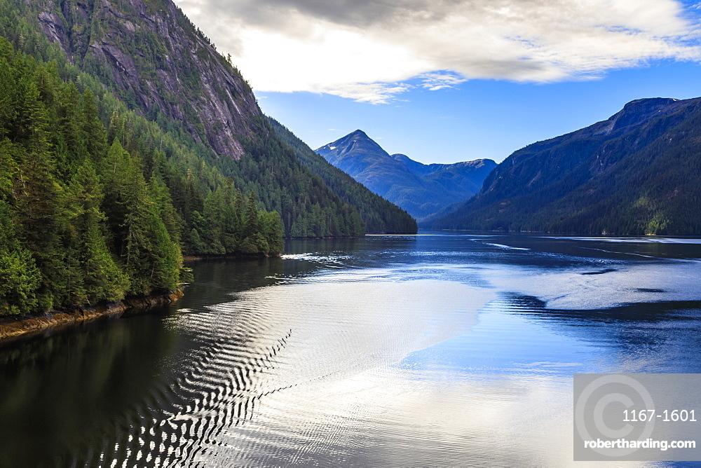 Rudyerd Bay ripples, beautiful summer day, Misty Fjords National Monument, Tongass National Forest, Alaska, United States of America, North America