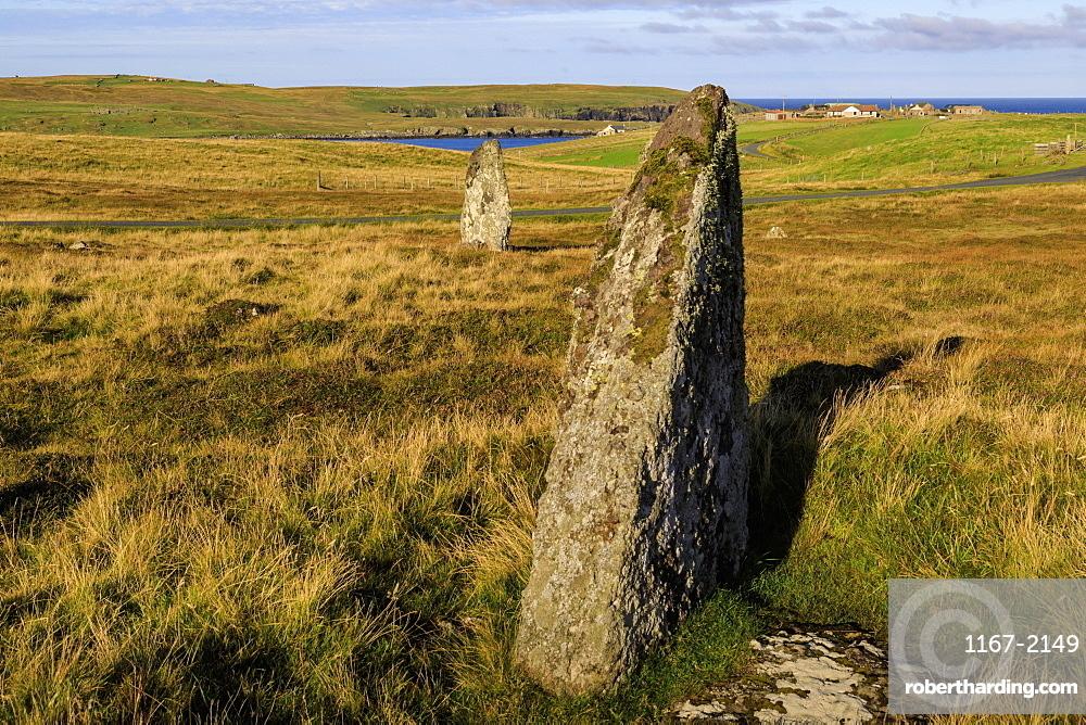 The Giant's Stones, coastal views, Standing Stones, Hamnavoe, Eshaness, Northmavine, Mainland, Shetland Isles, Scotland