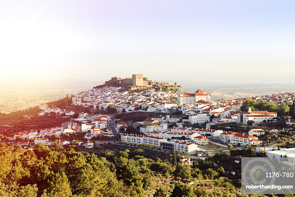 The castle and medieval walled town of Castelo de Vide in the high Alentejo, Portugal, Europe