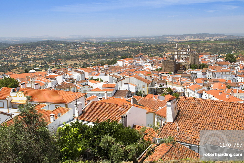 View of Portalegre, capital of the northern Alentejo, Portugal, Europe