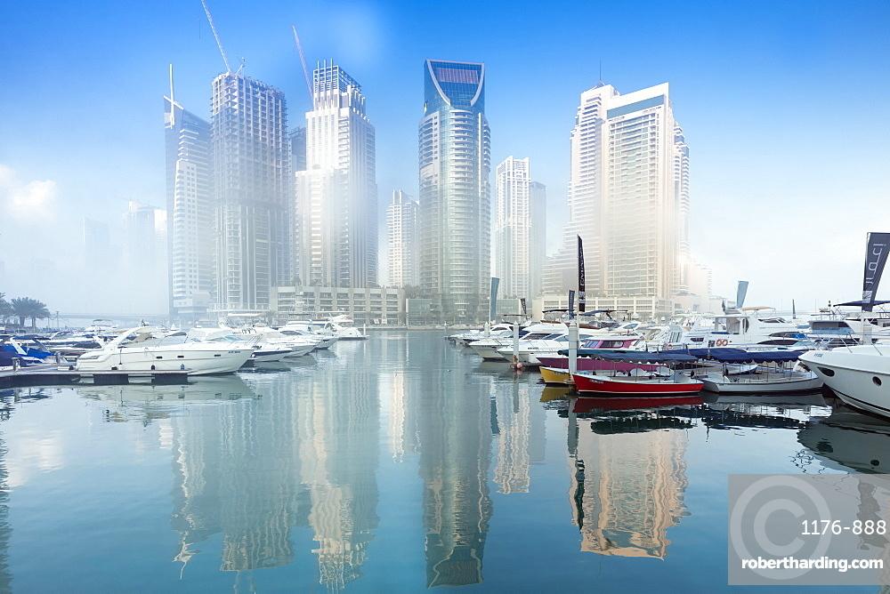 The Marina complex in Dubai, United Arab Emirates, Middle East