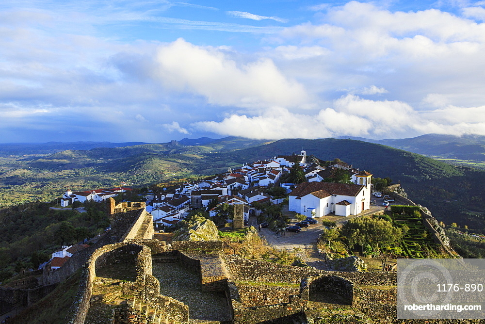 View of the village of Marvao in the northern Alentejo region, Portugal, Europe