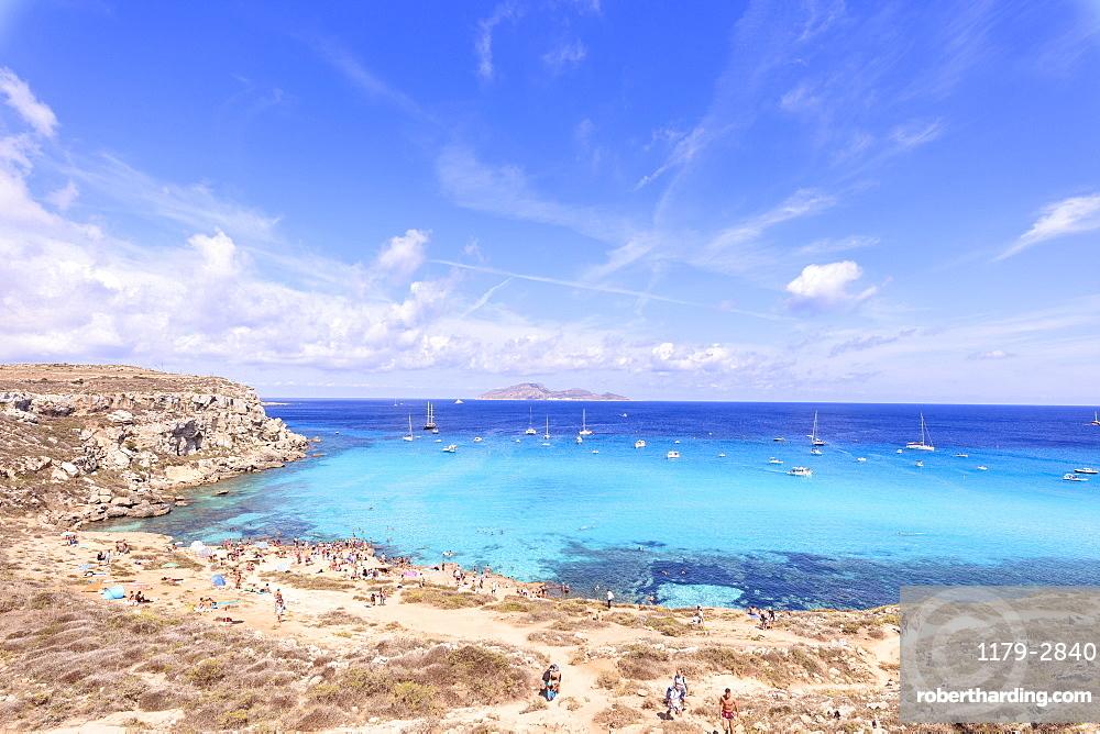 Cala Rossa, Favignana island, Aegadian Islands, province of Trapani, Sicily, Italy