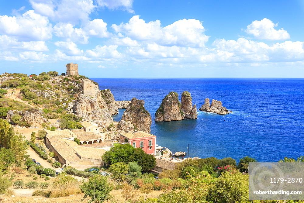 Historic hamlet of Tonnara di Scopello, Castellammare del Golfo, province of Trapani, Sicily, Italy, Mediterranean, Europe