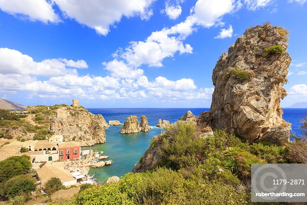 Cliffs around Tonnara di Scopello, Castellammare del Golfo, province of Trapani, Sicily, Italy