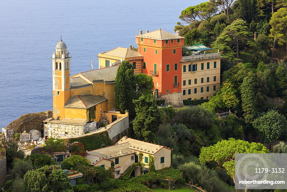 Church of San Giorgio, Portofino, province of Genoa, Liguria, Italy, Europe