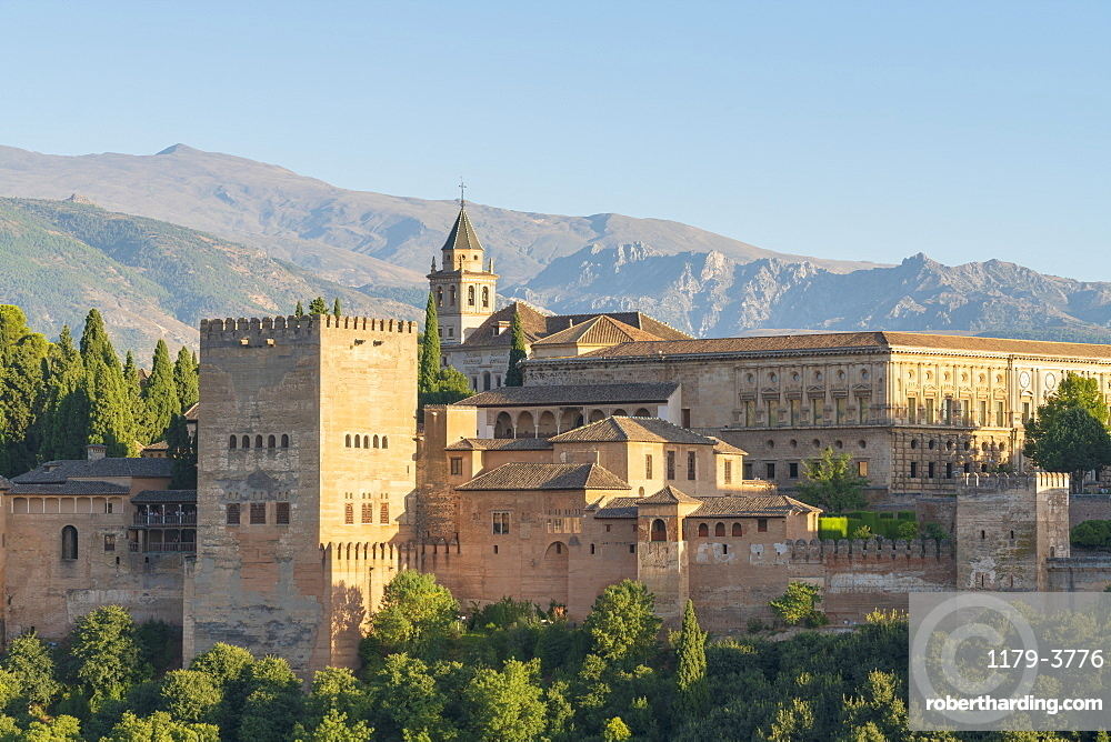 Alhambra palace in Granada, Spain, Europe
