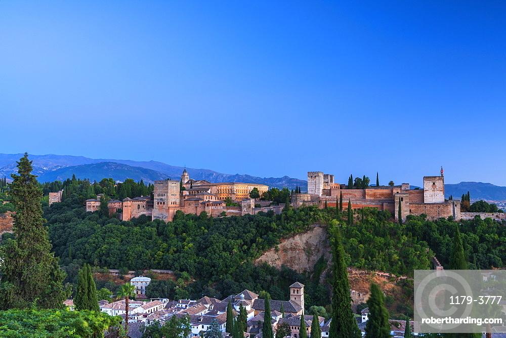 Alhambra palace in Granada, Spain, Europe