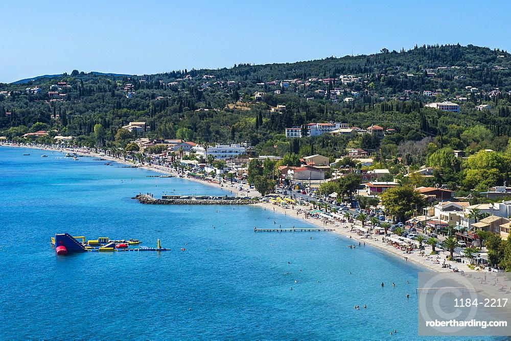 The beach of Corfu Ipsos, Corfu, Ionian Islands, Greek Islands, Greece, Europe