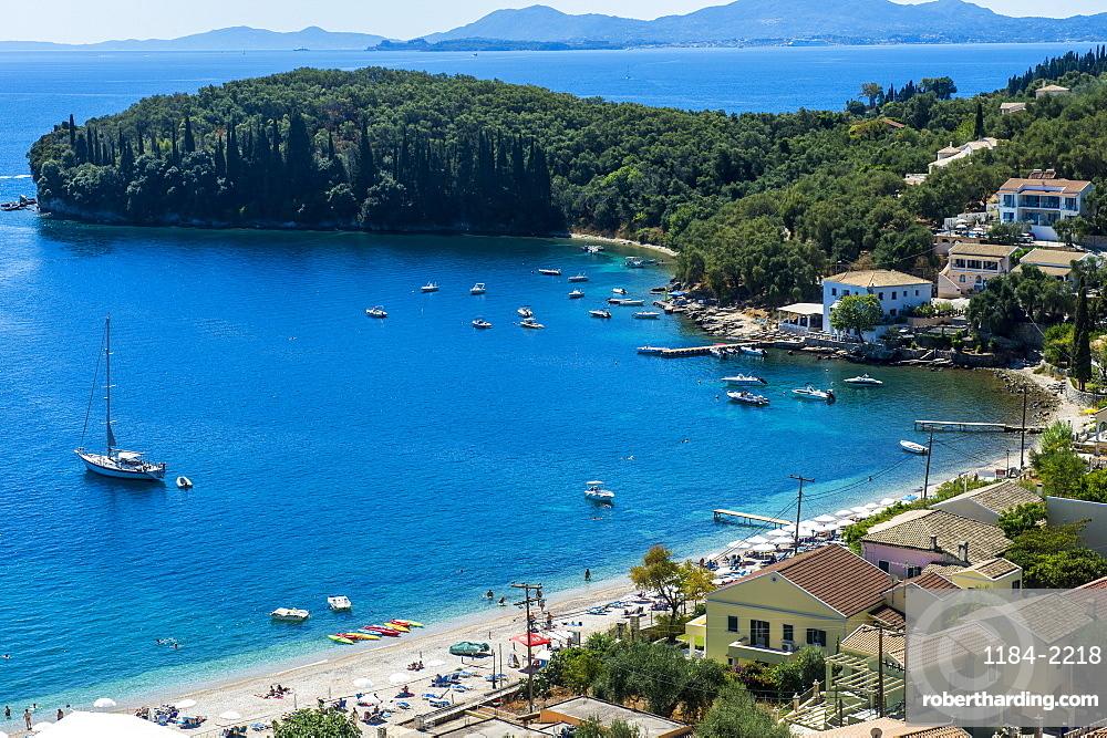 Overlook over the bay of Kalami, Corfu, Ioanian islands, Greece