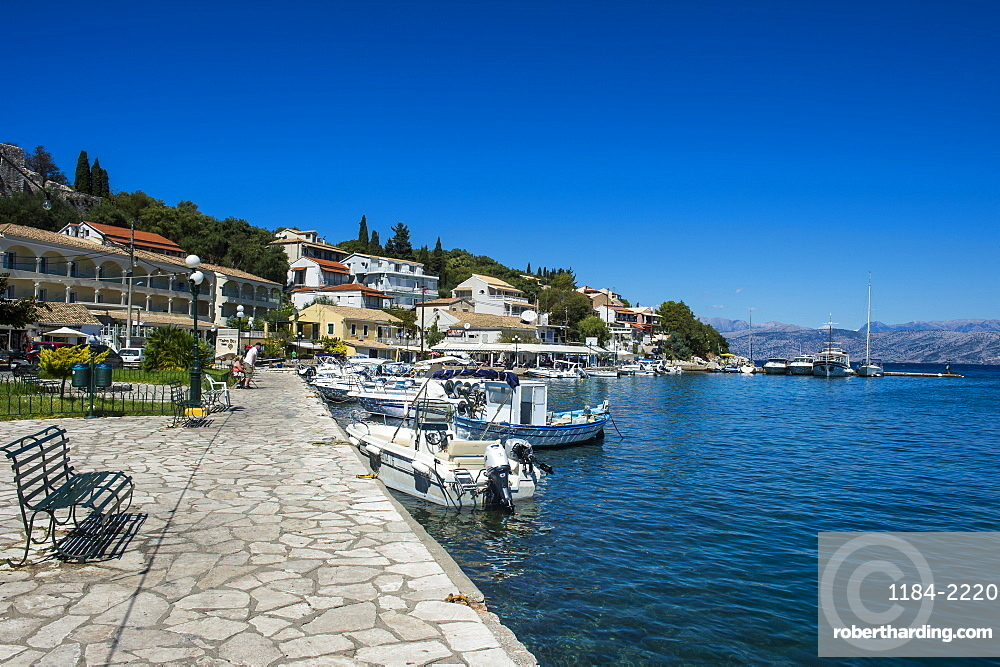 Harbour of Kassiopi, northern Corfu, Ioanian islands, Greece