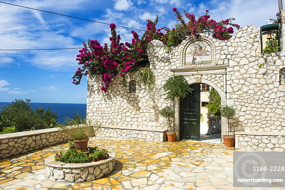 Monastery Of Panagia Mirtiotissa Corfu Stock Photo