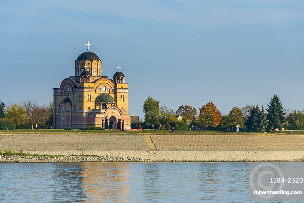 The Orthodox Christian church in Apatin on the danube, Vojvodina province, Serbia
