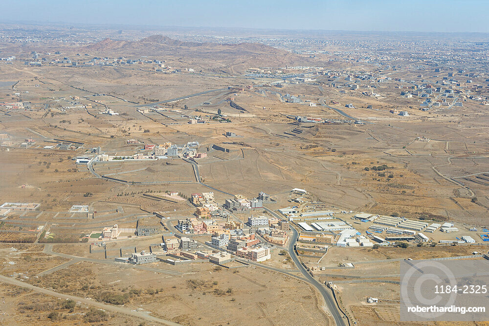 Aerial of Abha, Saudi Arabia, Middle East