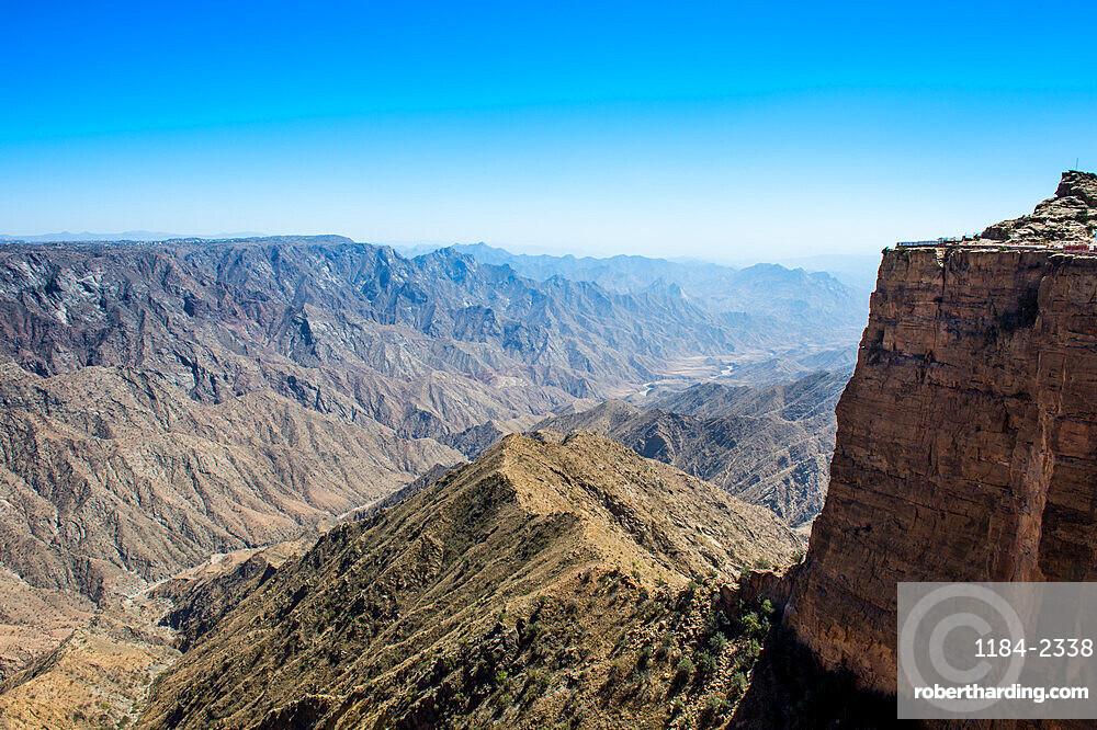 Beautiful mountain scenery around Habala, Abha, Saudi Arabia, Middle East