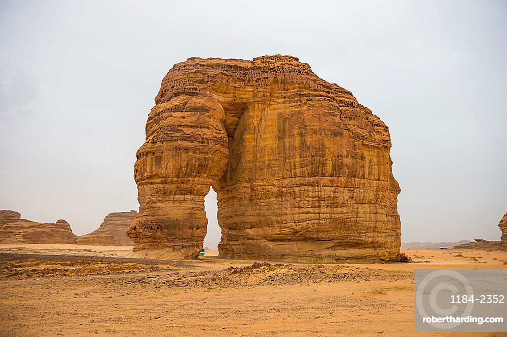 Giant arch in the Elephant rock, Al Ula, Saudi Arabia, Middle East