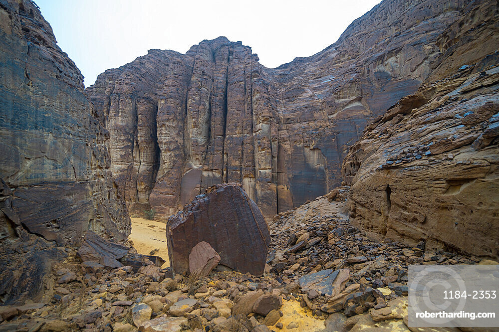 Beautiful rock formations near the Sahary Al-Ula Resort, Al Ula, Saudi Arabia, Middle East