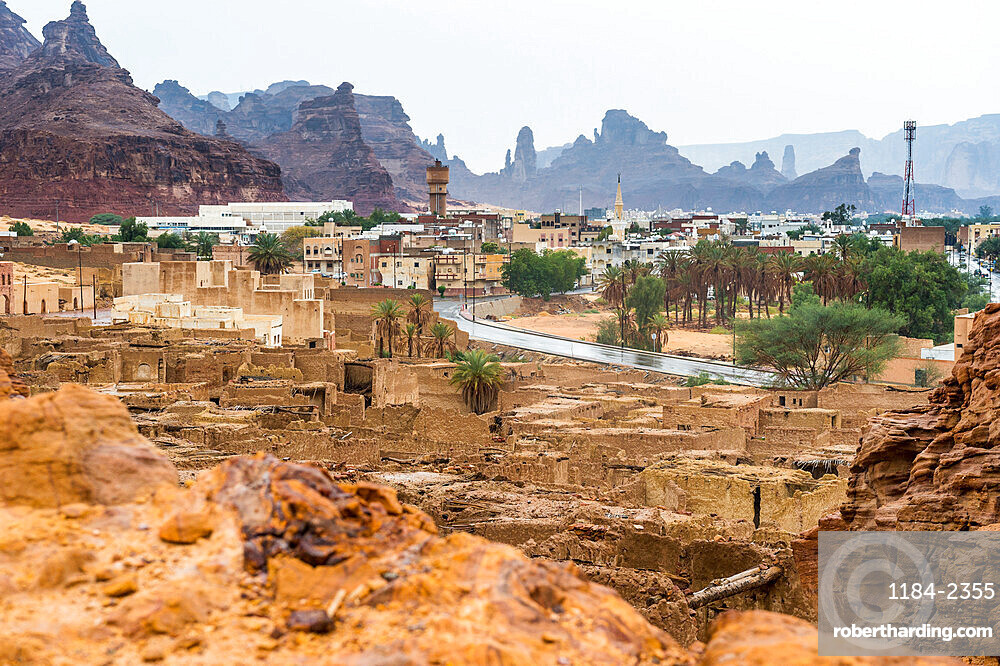 The old ghost town of Al Ula, Saudi Arabia, Middle East