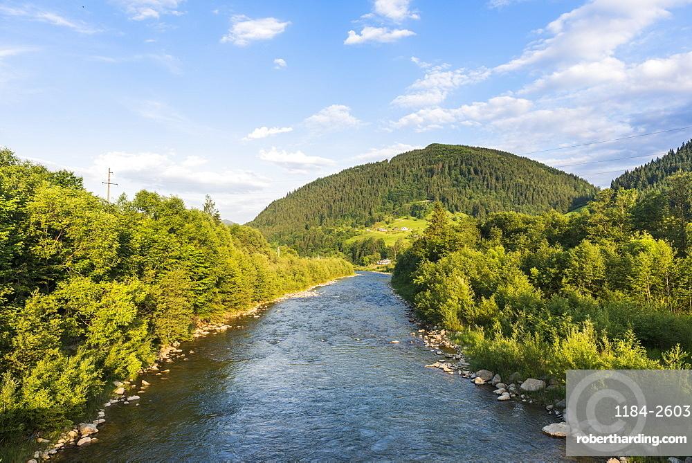 Cheremosh River, Verkhoyna, Carpathian mountains, Western Ukraine, Europe