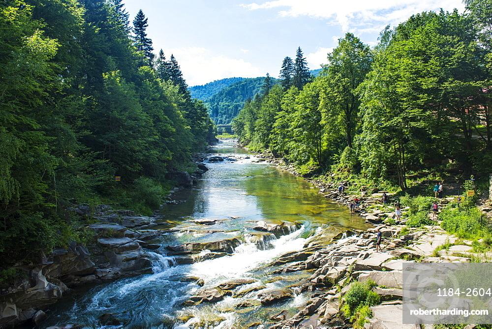 Rapids in Yaremche, Carpathian mountains, Western Ukraine, Europe