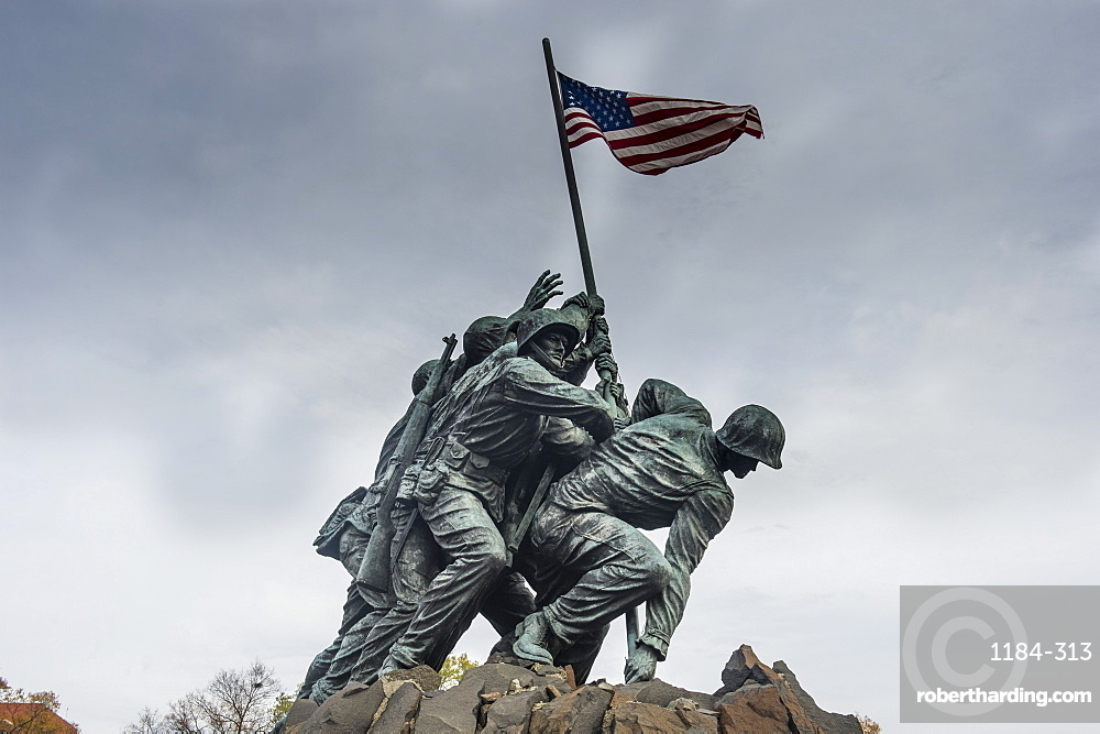 US Marine Corps War Memorial, Arlington, Virginia, United States of America, North America