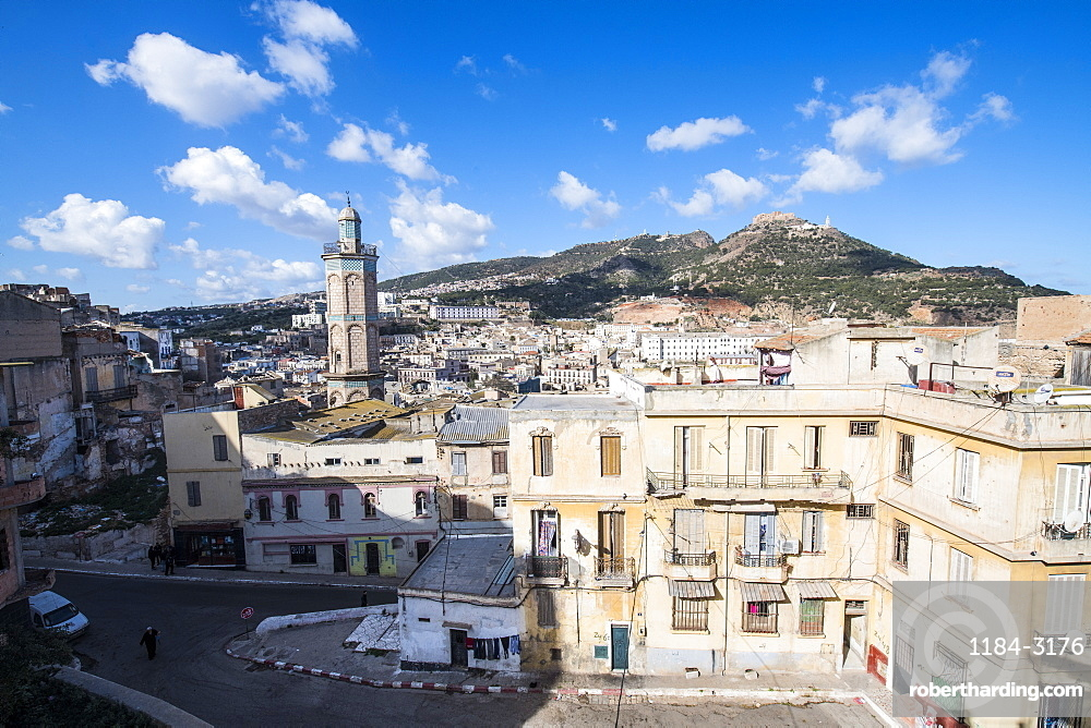View on the old Kasbah from the Bey's Palace, Oran, Algeria
