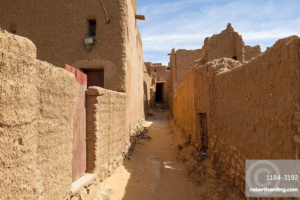Old kasbah, old town, Oasis of Taghit, western Algeria, North Africa, Africa