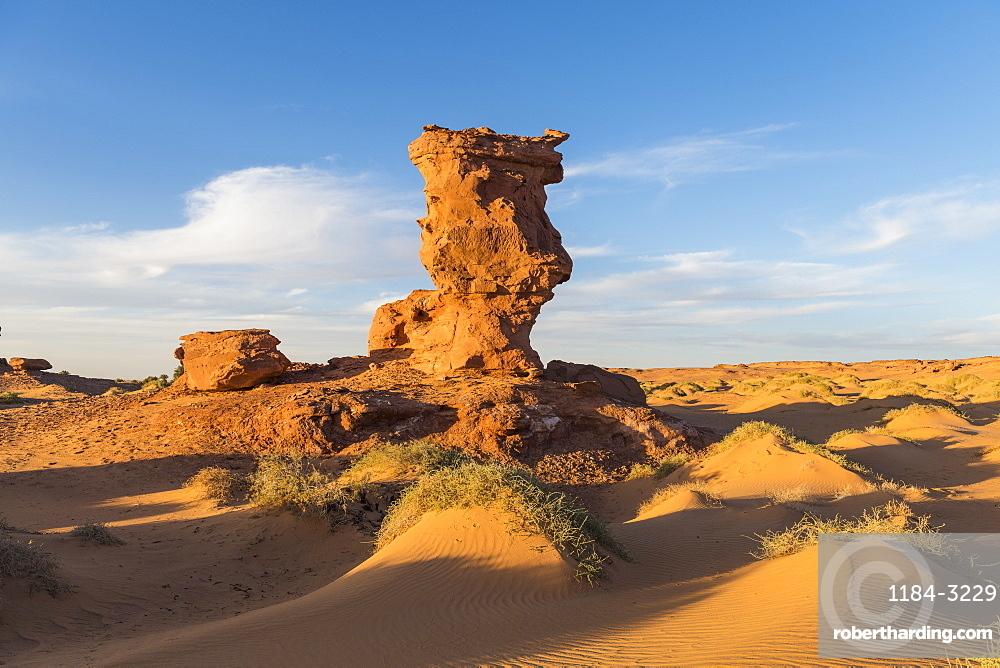 Sunset in the Sahara near Timimoun, western Algeria, North Africa, Africa