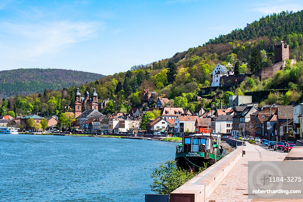 The historic town of Miltenberg along the Main river, Bavaria, Germany