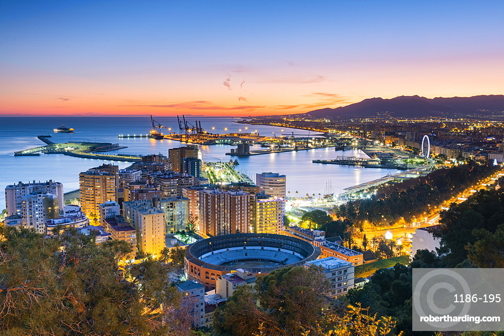 Gibralfaro viewpoint, Malaga, Costa del Sol, Andalusia, Spain, Europe
