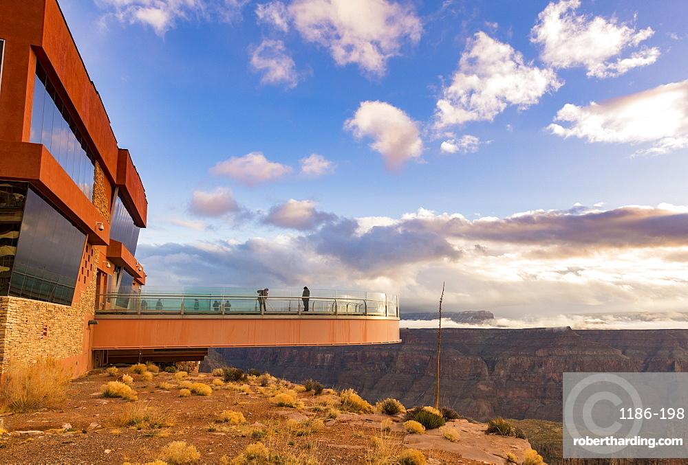 Sky Walk over the Grand Canyon and Colorado River UNESCO World Heritage Site, Arizona, United States of America, North America