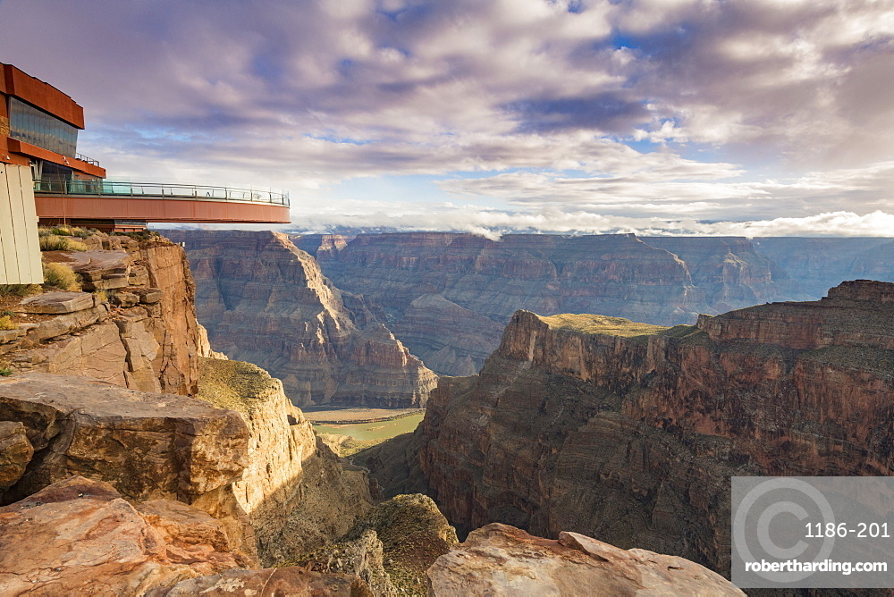 Sky Walk over the Grand Canyon and Colorado River UNESCO World Heritage Site, Arizona, United States of America, North America