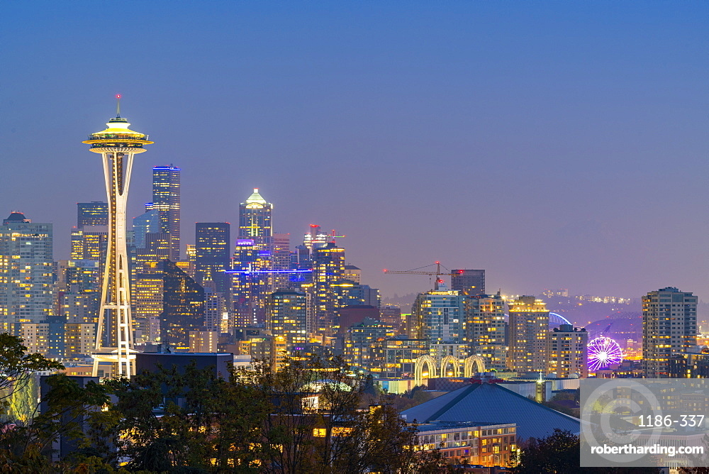 View of the Space needle from Kerry Park Seattle, Washington, United States of America