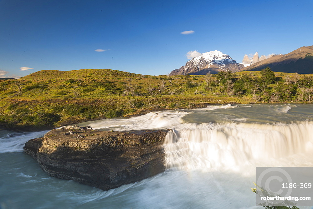 Waterfall Torres Del Paine National Park, Patagonia, Chile, South America
