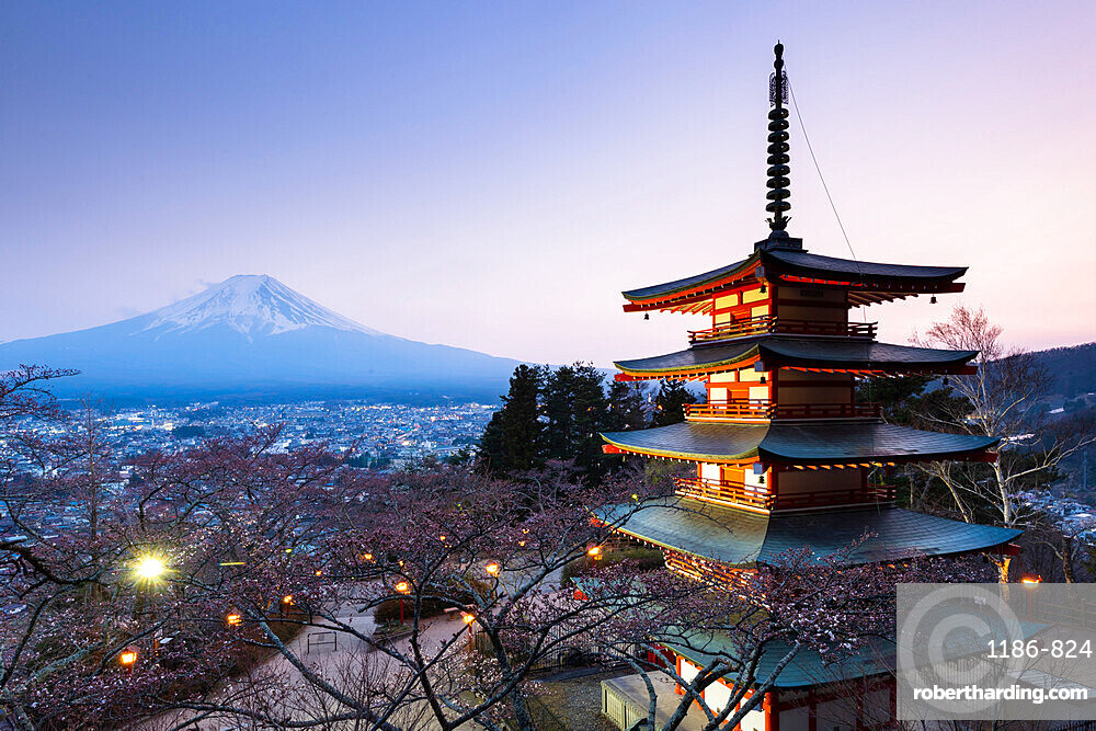 Chureito Pagoda Mount Fuji Japan