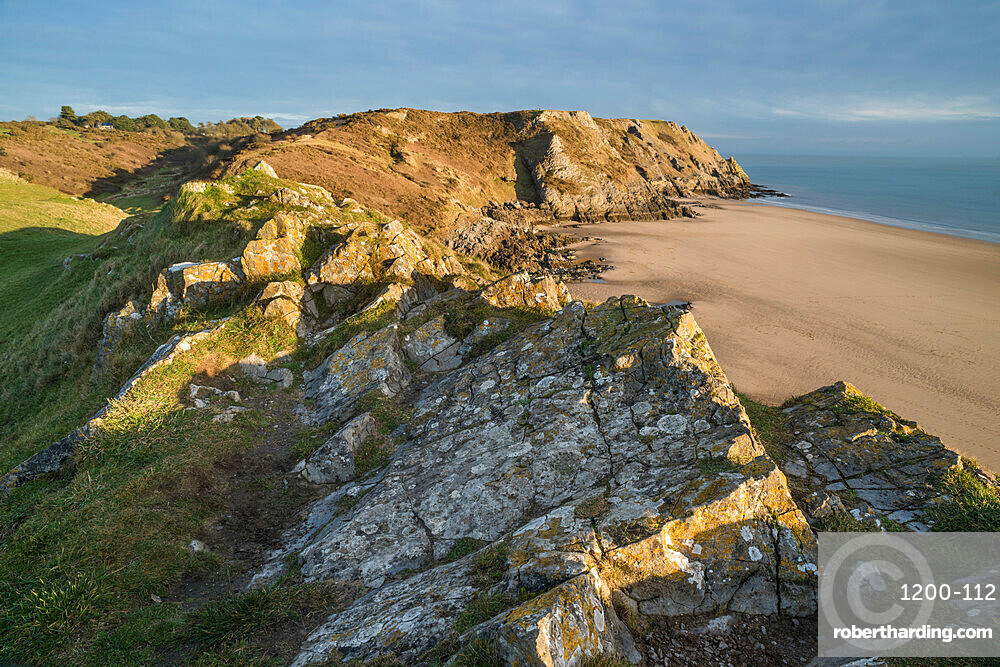 View of Pobbles Beach, Gower Peninsula, South Wales, United Kingdom, Europe
