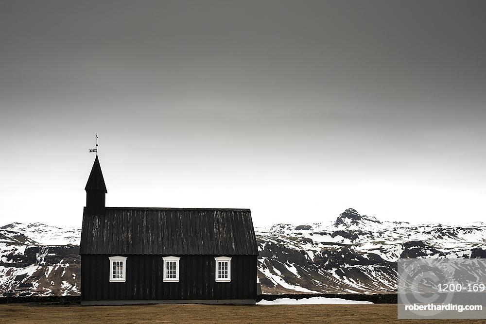 Budir Church, Snaefellsnes, Iceland.