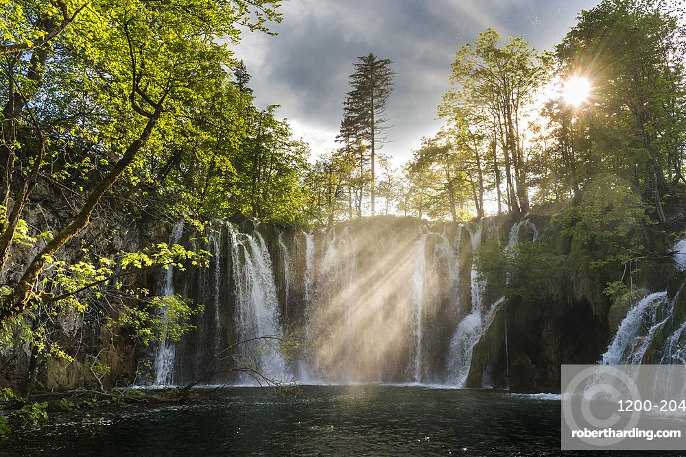 Waterfalls, Plitvice National Park, Croatia, May.