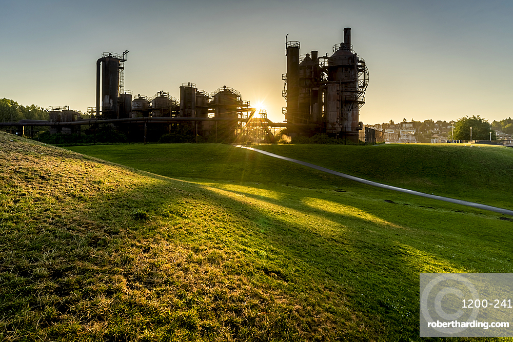 Old gas works at Gas Works Park, Seattle, Washington, United States.