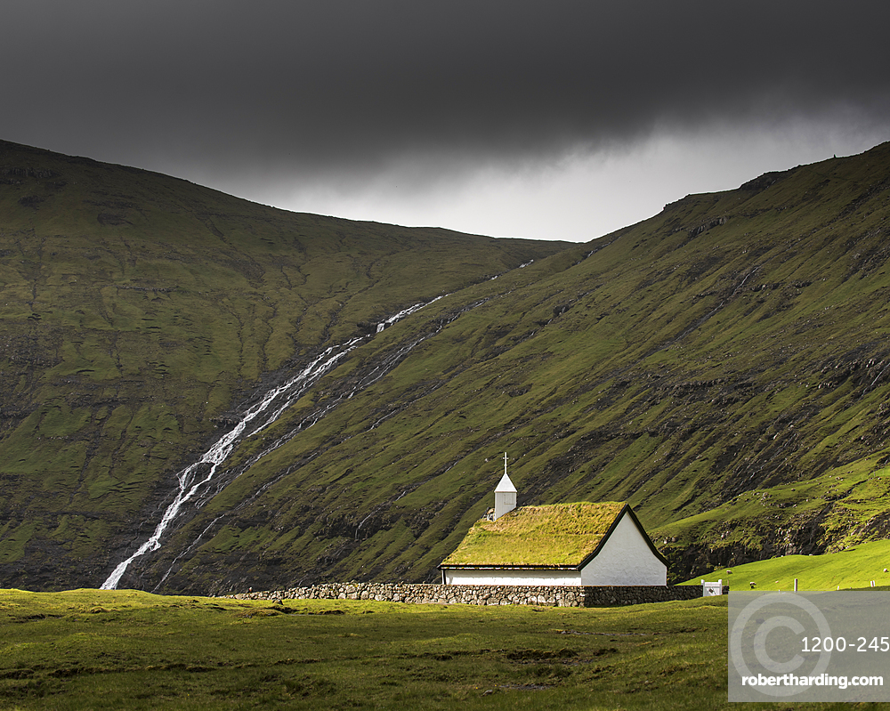 Saksunar Kirkja Church, Saksun, Faroe Islands.