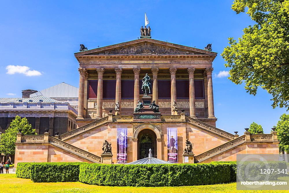 Old National Gallery, Museum Island, Berlin, Germany, Europe