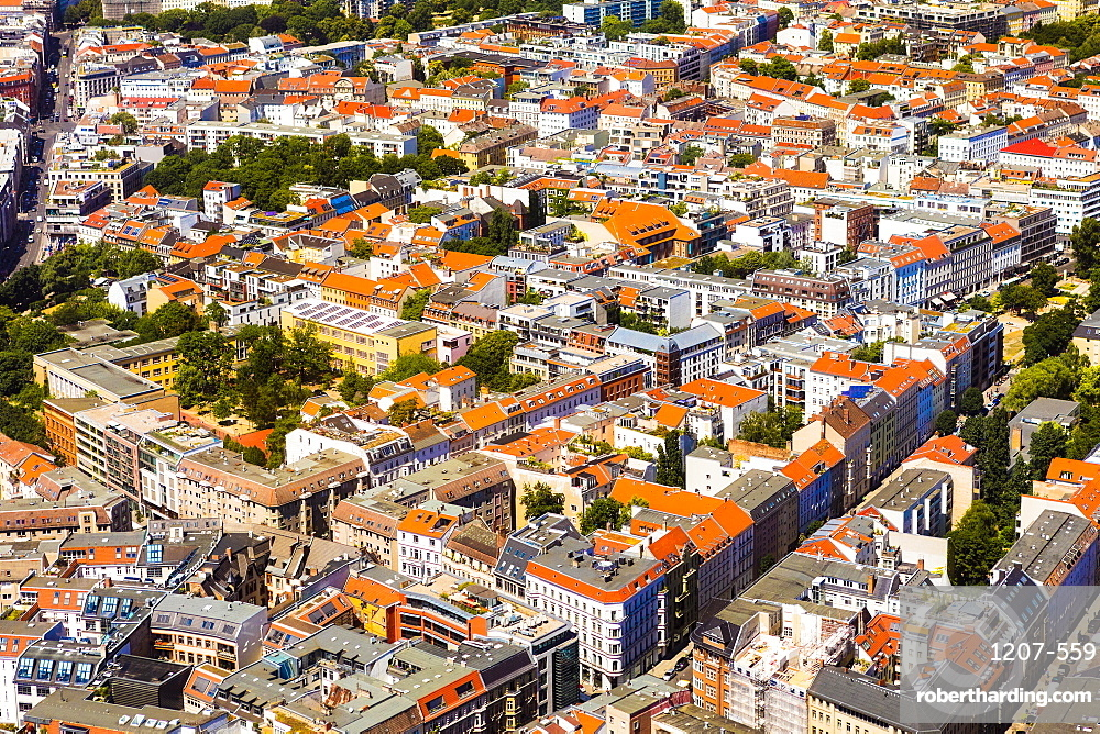 Aerial view of Berlin, Germany, Europe