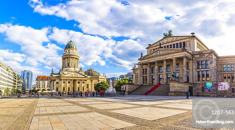 Deutscher Dom and Konzerthaus Berlin in Gendarmenmarkt square Berlin, Germany, Europe