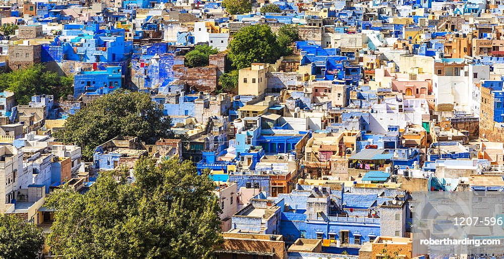 The Blue City in Jodhpur, Rajasthan, India, Asia,