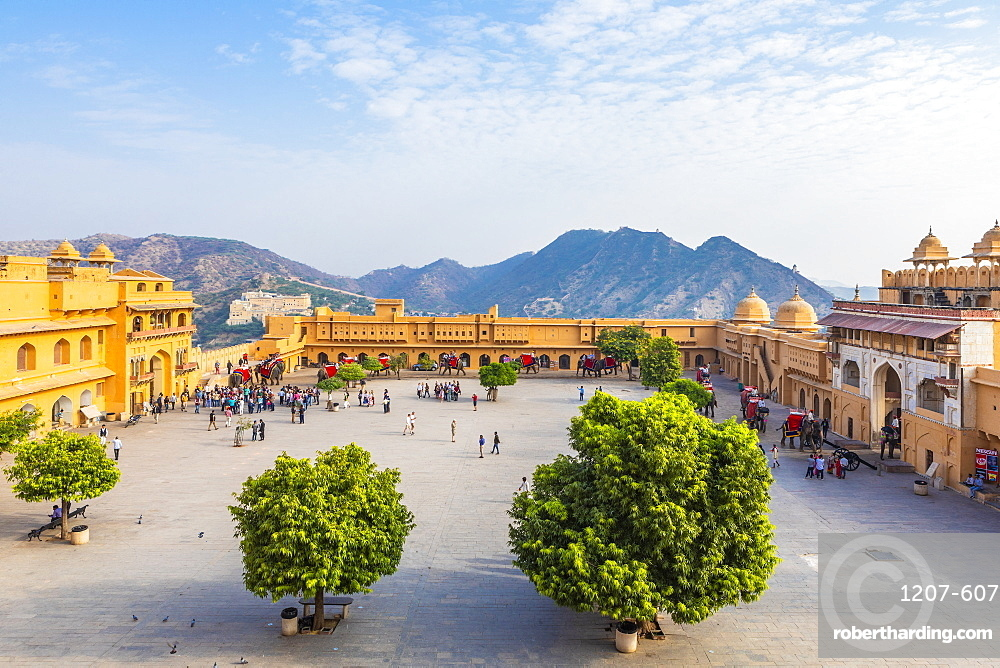 Amer Palace and Fort, Jaipur, Rajasthan, India, Asia,