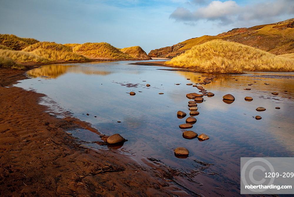 Late afternoon at Sandwood Loch, Sandwood Bay, Scotland.