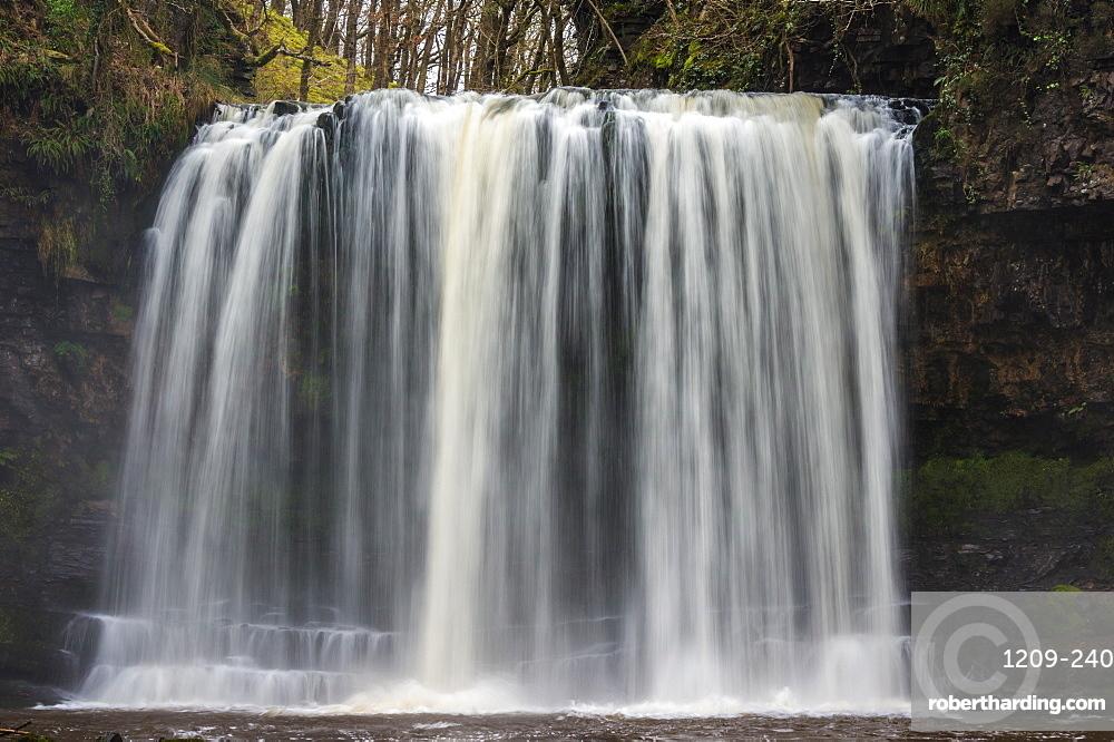 Sgwd yr Eira waterfall, Pontneddfechan, Wales. Waterfall country. Brecon Beacons.